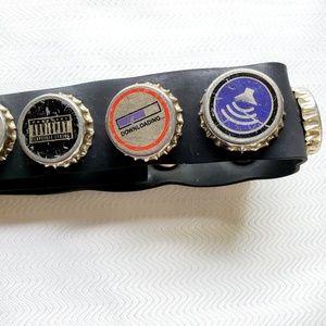 Rubber Seatbelt Buckle Techie Bottle Caps Belt
